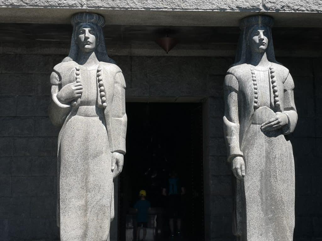 women guarding