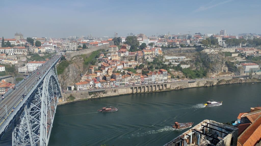 very high bridge in Porto
