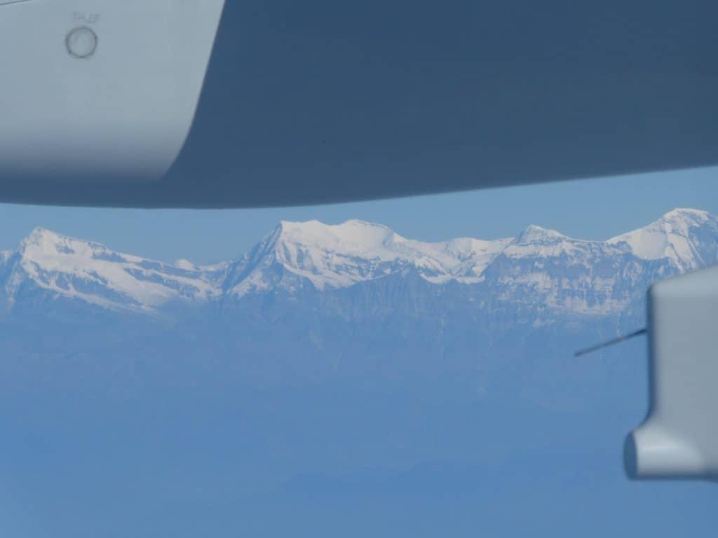 himalayas from qatar plane