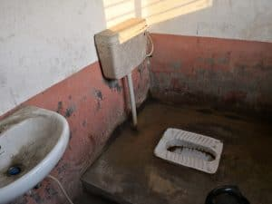 bus station toilet Chitwan