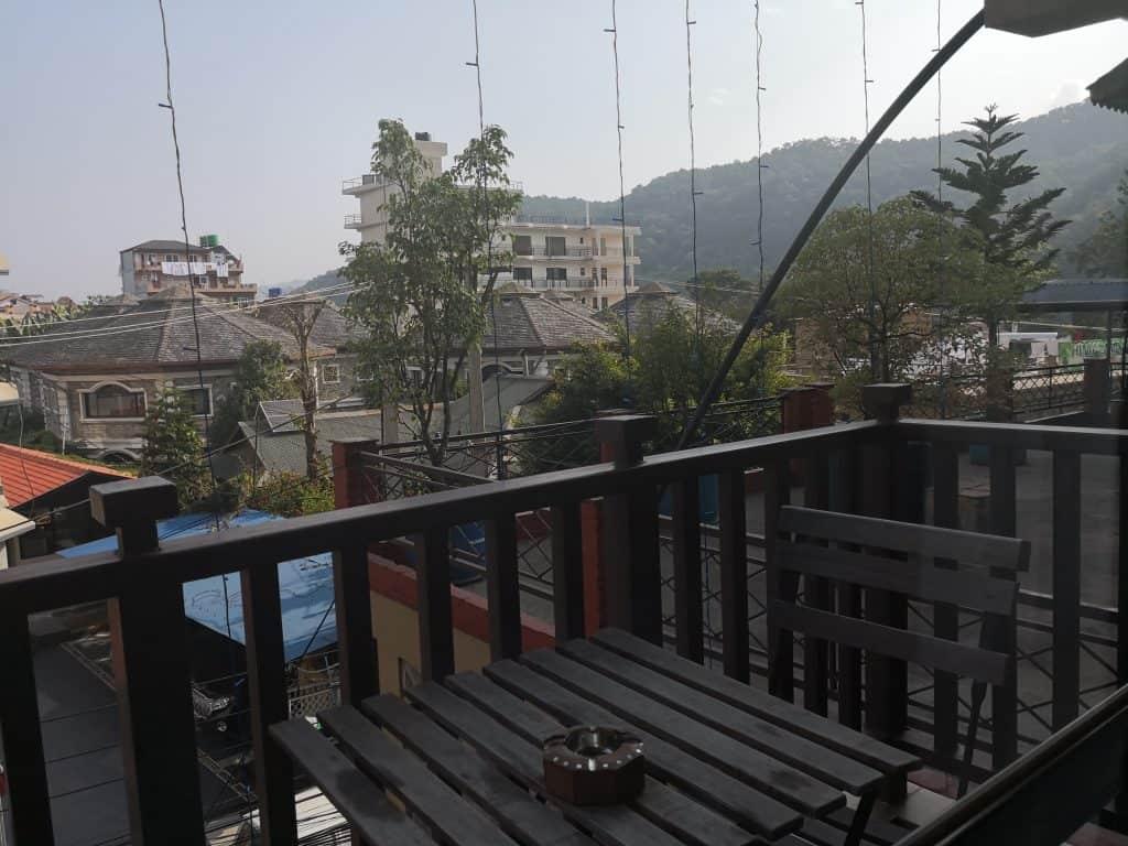 Batika hotel Pokhara balcony