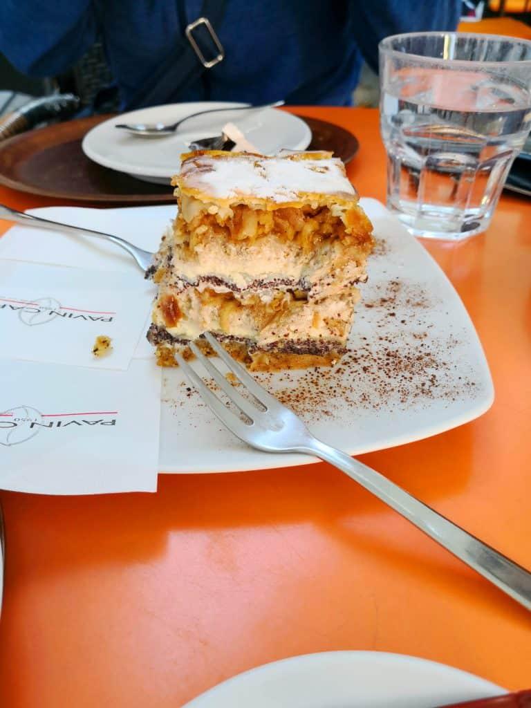 Ljubljana cake and coffee after ales