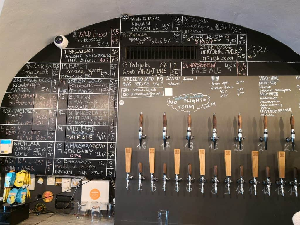 craft beers for all in Ljubljana