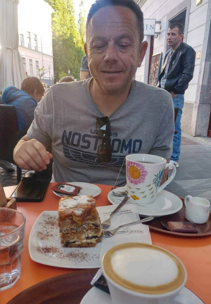Ljubljana cake and coffee after beers