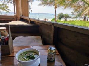 thai green curry lazy beach koh rong samloem