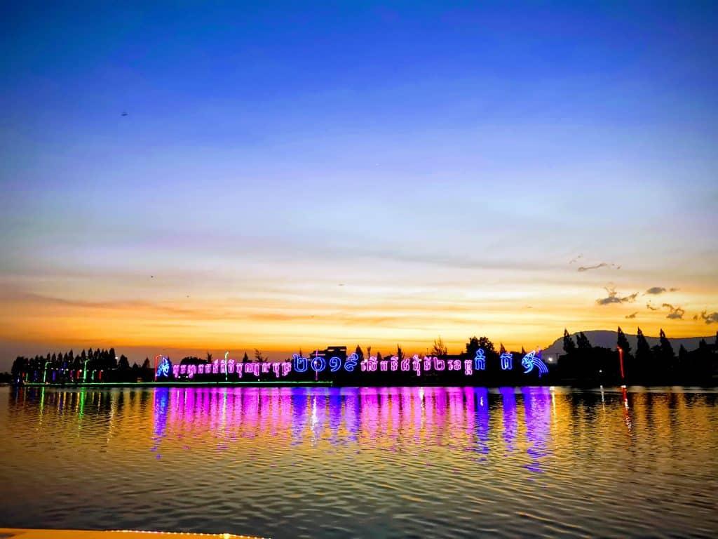 sunset kampot boat
